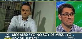 واکنش جنجالی مجری طرفدار رونالدو روی آنتن زنده وقتی تصویر مسی را دید+ویدیو