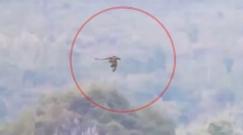 ویدیویی ترسناک از پرواز موجودی شبیه اژدها در میان کوه ها