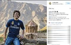 یک ایرانی تیتر اول اینستاگرام رئال مادرید شد