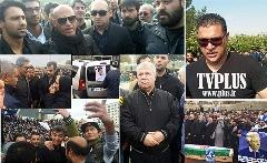 سنگ تمام ستاره ها در آخرین وداع با مردی که قرمز و آبی دوستش داشتند/گزارش اختصاصی تی وی پلاس از مراسم تشییع پیکر منصور خان پورحیدری