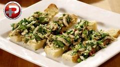 این پیش غذای ایتالیایی، بهترین گزینست برای پذیرایی از مهمانان خاص؛ آموزش تهیه بروسکتای مرغ