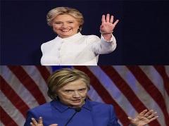 تفاوت فاحش چهره هیلاری کلینتون قبل و بعد از انتخابات+عکس