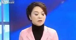 سوتی وحشتناک خانم مجری در برنامه زنده