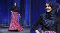 رقابت دختری با حجاب کامل اسلامی در مراسم انتخاب دختر شایسته آمریکا!