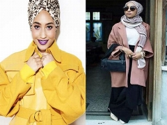 سو استفاده مدل انگلیسی از حجاب