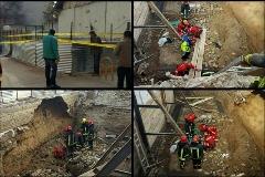 مرد 40 ساله در مشهد زنده زنده دفن شد + عکس