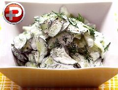 پیش غذایی فوق ساده با خوشمزه ترین طعم؛ آموزش تهیه سالاد خیار و شوید در سه سوت