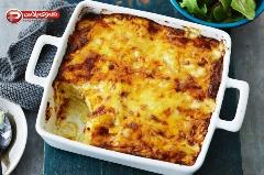 غذایی شیک  با دوست داشتنی ترین مواد اولیه؛ آموزش تهیه سوفله مرغ و سیب زمینی با سس بشامل