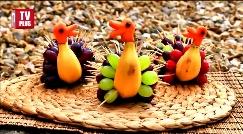 سرو میوه به لاکچری ترین شیوه ممکن/ آموزش تزئین بشقاب میوه