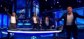 خوشحالی جالب گری لینکر، استیون جرارد، مایکل اوون و ریو فردیناند بعد از گل ششم بارسلونا!
