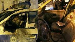 فیلم وحشتناک از لحظه پرتاب ترقه انفجاری داخل خودروی پلیس مشهد
