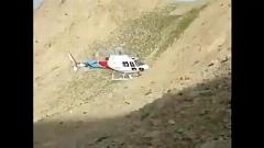 لحظه دلخراش برخورد سر رئیس بحران کهگیلویه و بویراحمد با پره هلی کوپتر در کوه دنا / برای نجات کوهنوردان رفته بودند که ...