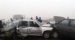 فیلم وحشتناک از خبر سازترین تصادف زنجیره ای خودروها در مشهد