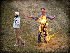 مردی که توسط زن خیانتکارش به آتش کشیده شد