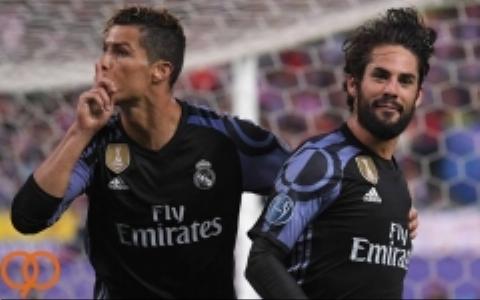 شادی بازیکنان رئال مادرید  در رختکن پس از شکست اتلتیکو مادرید