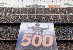 تقدیر جالب و دیدنی  هواداران بارسلونا از لیونل مسی