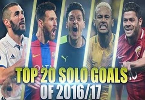 20 گل انفرادی دیدنی در فصل 2017-2016