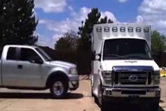 آمبولانس ضد ضربه/شرکت فورد برای طراحی خودروهای آمبولانس خود روی ویژگی ضدضربه بودن آنها تمرکز زیادی داشته است.