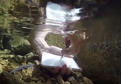 خودکاری مقاوم که در زیر آب هم مینویسد