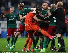 درگیری شدید بازیکنان در فینال جام حذفی روسیه