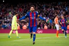 خلاصه بازی بارسلونا 7-1 اوساسونا(درخشش مسی)/هفته 34 لالیگا اسپانیا فصل 2017-2016