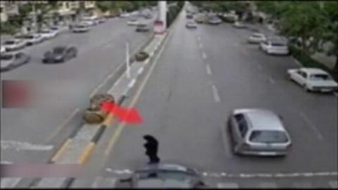 فرار ناجوانمردانه از تصادف با عابرپیاده در اصفهان