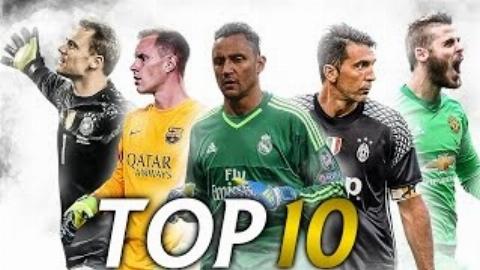 ویدئویی زیبا از 10 دروازهبان برتر دنیا در فصل 2017-2016