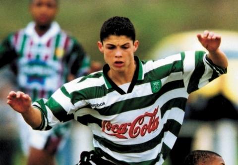 کریس رونالدو در ۱۶ سالگی و قبل از معروف شدن