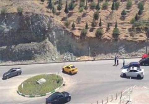 جولان بچه پولدارها با خودروهای چندصد میلیونی در بلوار هاشمیه
