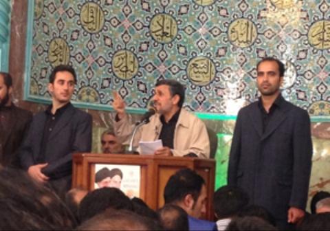 روضهخوانی احمدینژاد در مسجد نارمک