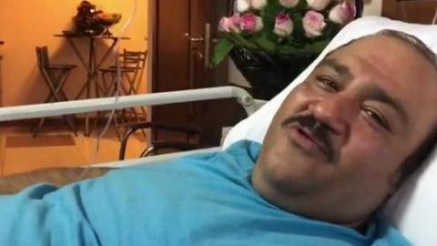 درخواست مهران غفوریان از مردم روی تخت بیمارستان