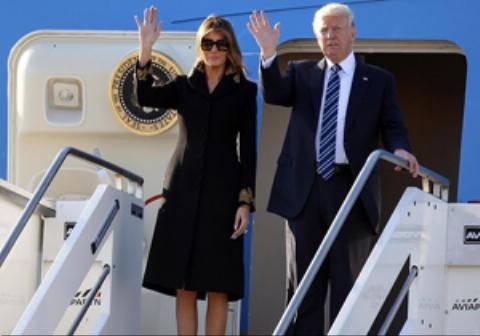 ضایع شدن دوباره ترامپ توسط همسرش