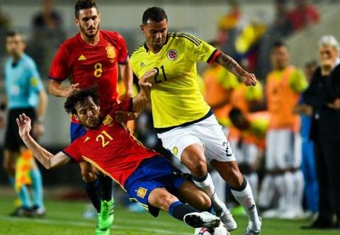اسپانیا ۲ - ۲ کلمبیا؛ فرار ماتادورها از شکست با گل دقایق پایانی موراتا