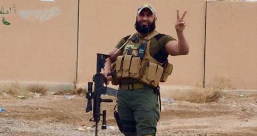 ابو عزرائیل یک داعشی را در برابر دوربین به آتش کشید