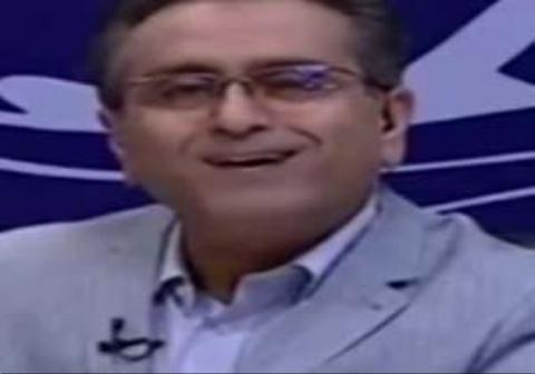 واکنش مجری شبکه خوزستان به ترکیدن لامپ در برنامه زنده