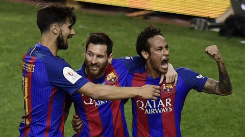 جشن قهرمانی بارسلونا در جام حذفی اسپانیا