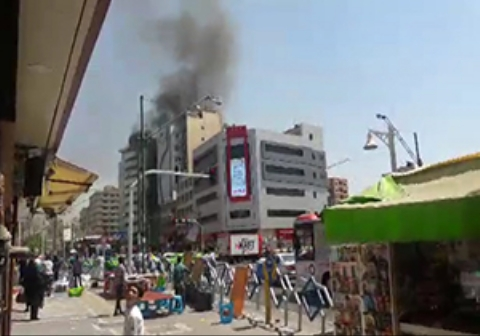 آتش سوزی یک ساختمان در چهارراه ولیعصر تهران