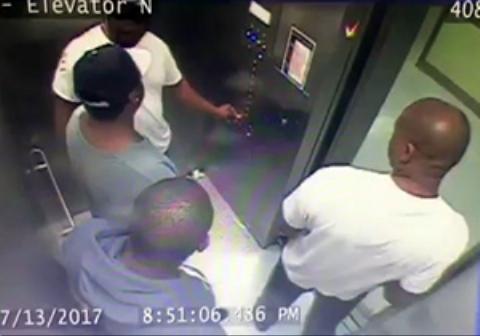 درگیری لفظی در آسانسور منجر به کتک کاری و ضرب و شتم یک مرد توسط سه نفر دیگر شد