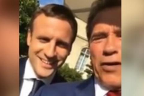 سلفی آقای بازیگر با رئیسجمهور جوان فرانسه