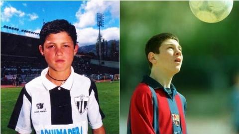 رونالدو و مسی از کودکی تا کنون