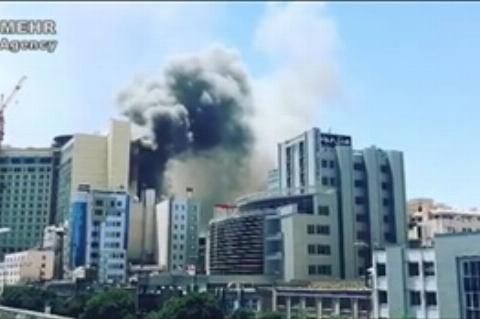 اولین تصاویر از آتشسوزی یکی از هتلهای مشهد