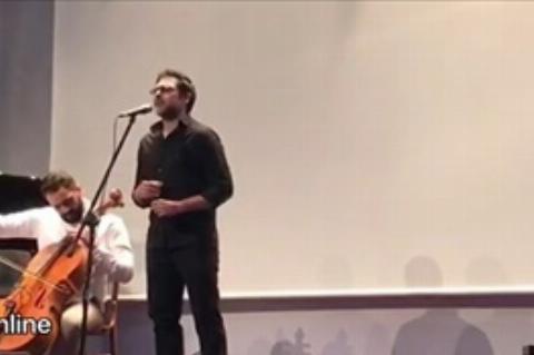 آواز شنیدنی کوروش تهامی در مراسم نمایش فیلم «رگ خواب»