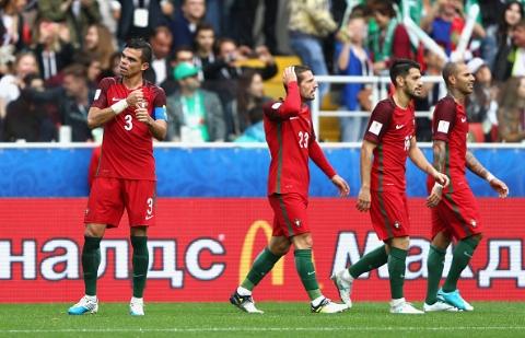 پرتغال ۲ - ۱ مکزیک؛ بازگشت در ثانیه های پایانی و کسب رتبه سوم در غیاب رونالدو