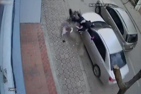 راننده بیاحتیاط به طرز وحشیانهای جان دو تن را گرفت!