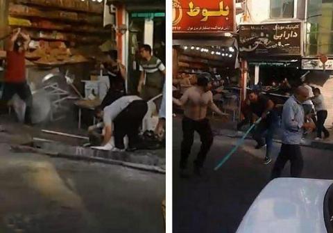 جنگ مرگبار خیابانی اینبار در محله خاک سفید تهران