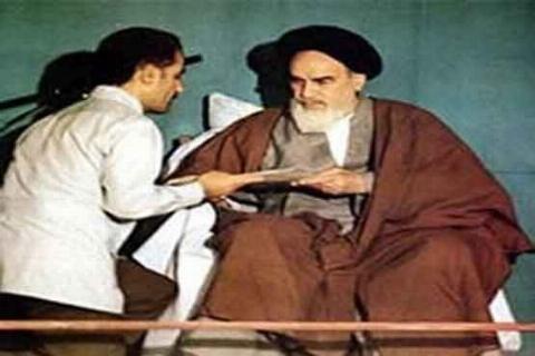 شوخی امام خمینی (ره) در مراسم تنفیذ شهید رجایی