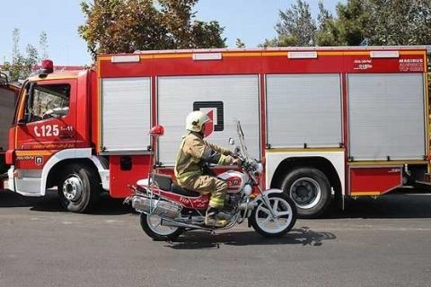 آتشسوزی گسترده در نمایشگاه بینالمللی تهران