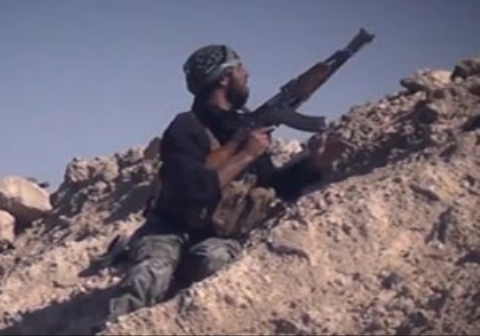 مرگ یک داعشی هنگام درگیری با نیروهای ارتش سوریه