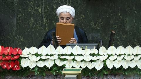 سوگند حسن روحانی در مراسم تحلیف یازدهمین ریاست جمهوری