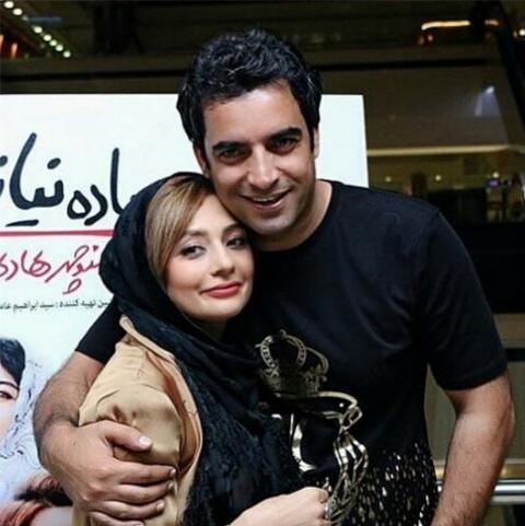 یکتا ناصر و در آغوش کشیدن همسرش در جشن حافظ